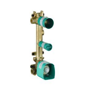 Base-para-conjunto-de-termostato-Axor-Citterio-E-para-dois-pontos-de-agua