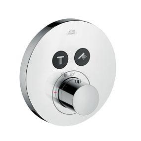 Termostato-Axor-ShowerSelect-com-botao-de-acionamento-mecanico-para-dois-pontos-de-agua