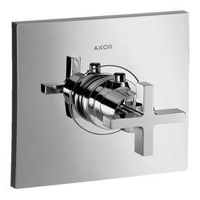 Misturador-Termostato-Axor-Citterio-De-Alto-Fluxo-Para-Chuveiro-Sem-Valvula-De-Fechamento-Com-Acabamento-Em-Cruzeta
